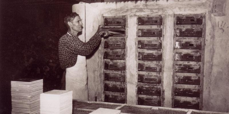 stare zdjęcia z fabryki płytek